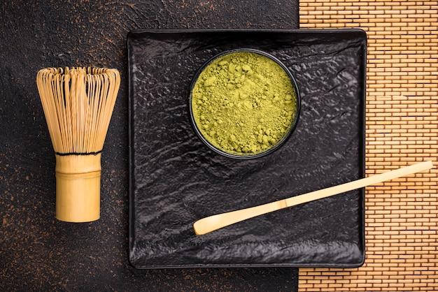 Японский порошок зеленого чая матча