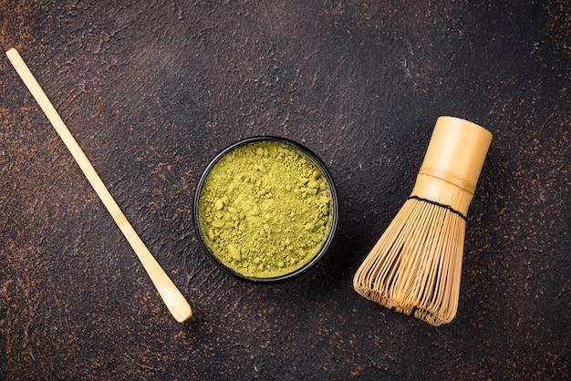 日本の抹茶グリーンティーパウダー