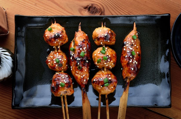 Japanese meatball grill  or tsukune.