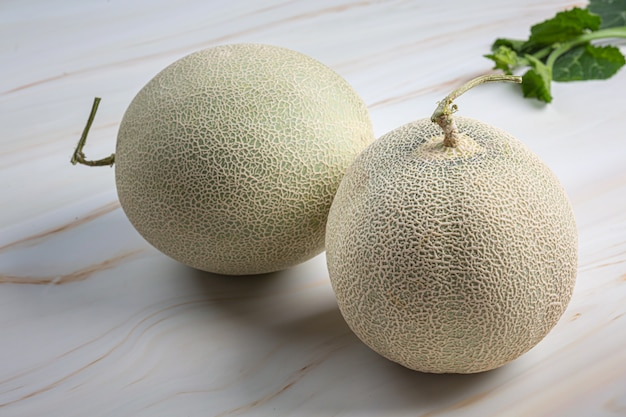 Japanese melon or cantaloupe, cantaloupe, seasonal fruit, health concept.