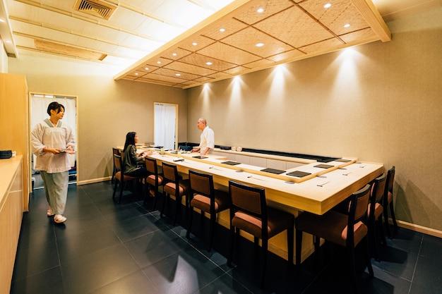 Japanese omakase restaurant.