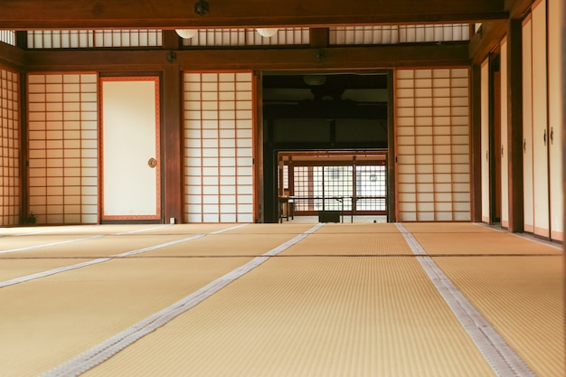 Japanese room with tatami floor