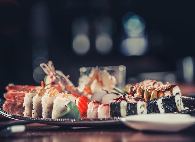 日本のシーフード寿司