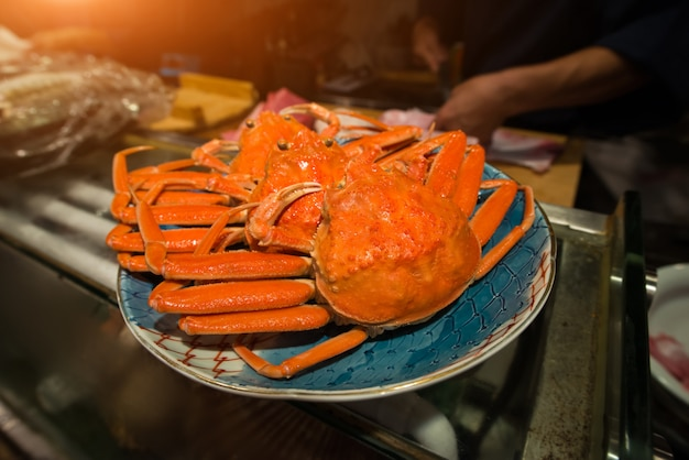 Japanese snow crab or zuwaikani in japan .