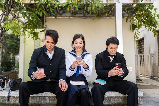 일본인 학생 야외 모임