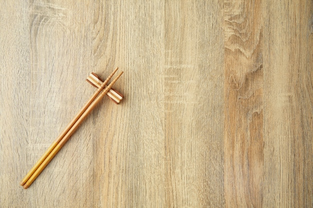 Japanese style chopsticks on the table