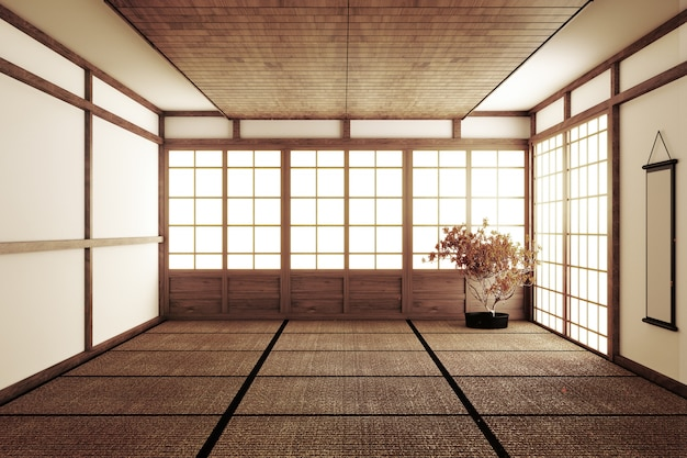 Japanese style empty room