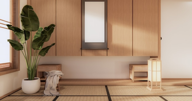 Japanese style room interior design