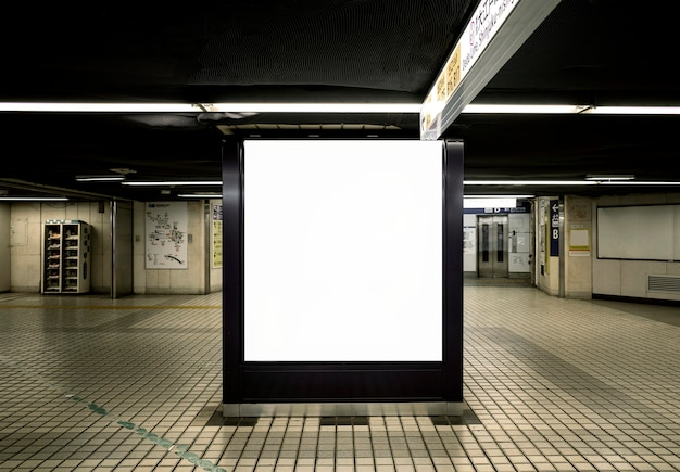 Japanese subway system display screen for passenger information
