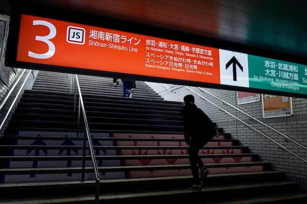 日本の地下鉄システムの乗客情報表示画面