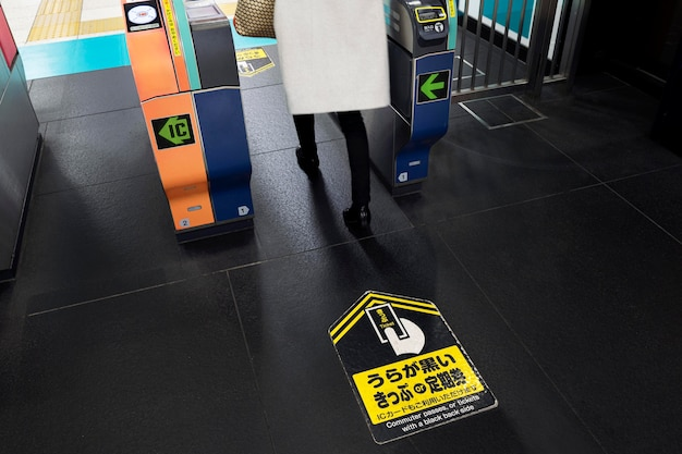 Japanese subway system passenger information display screen