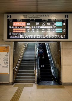 Экран системы японского метро для отображения информации о пассажирах