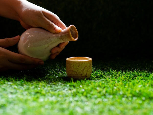 Japanese tea time concept