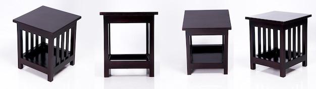 방 인테리어 디자인 아시아로 일본 전통 나무 테이블