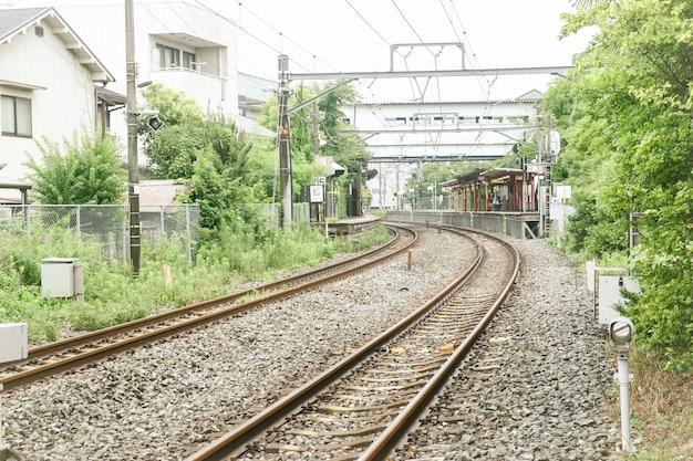 Японский железно-дорожная станция