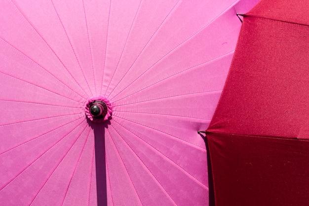 Japanese umbrella with sakura pattern.
