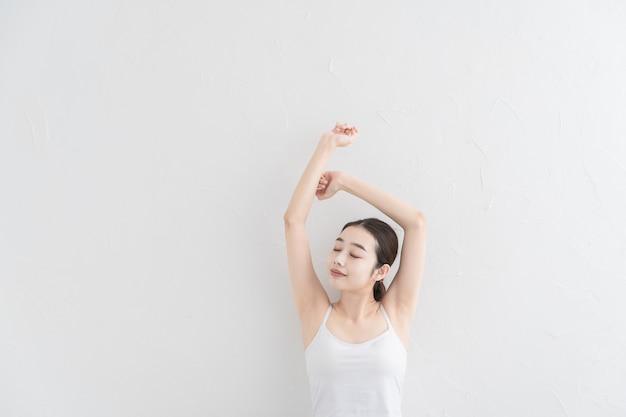 일본 여자 : 스트레칭