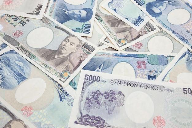 日本円ノート。日本の通貨