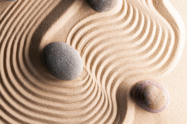 熊手砂の石の枯山水