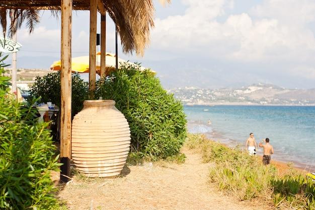 Jar next to the beach