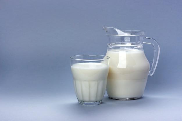 Jar and glass of milk