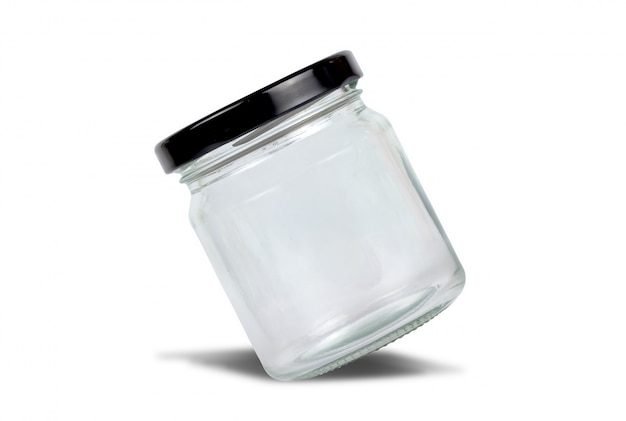 Jar isolated on white background with clipping path