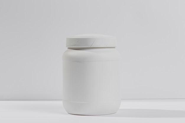 Jar with gym supplements