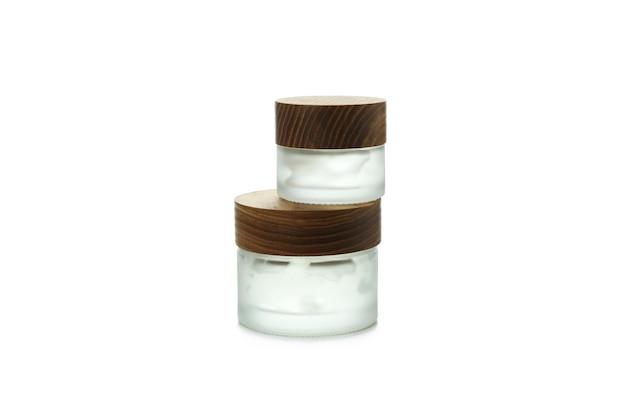 白い孤立した背景に分離されたスタイリングジェルの瓶