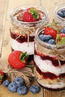 Jars with berries