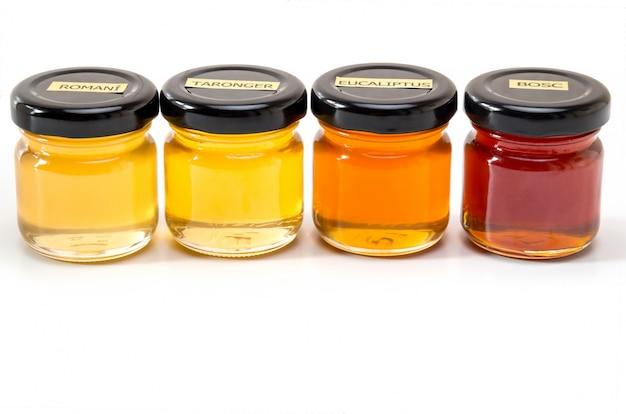 Jars with honey