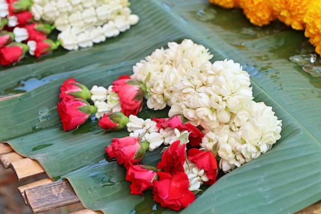 Jasmine garland in market