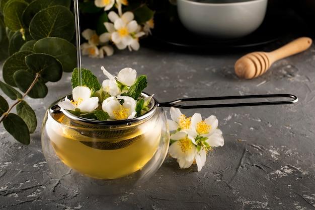 Jasmine green tea brewing process