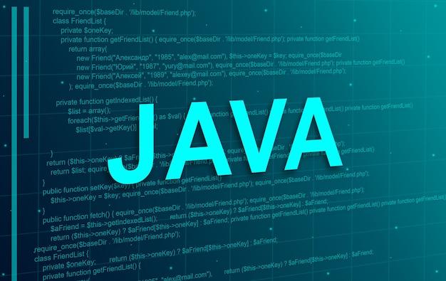 자바 프로그래밍 코드 추상적 인 기술 배경