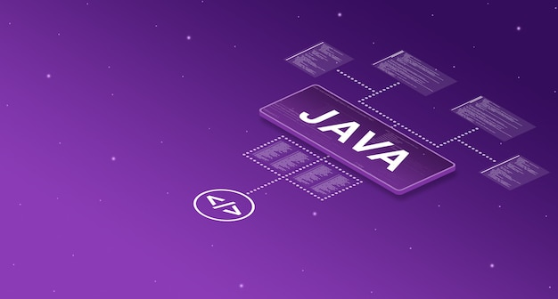 Java on smart screen in the system with with elements of program code 3d