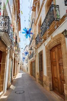 Javea also xabia old town white facades