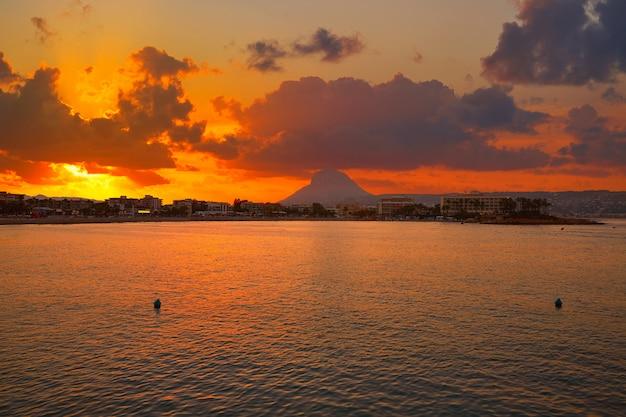 Javea also xabia sunset beach montgo
