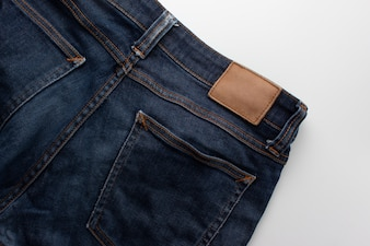 Jeans background.Texture of blue jean,Denim