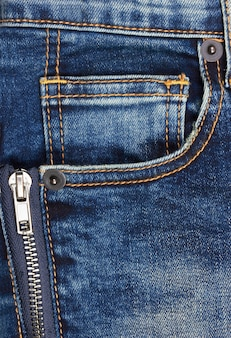 Jeans background with pocket