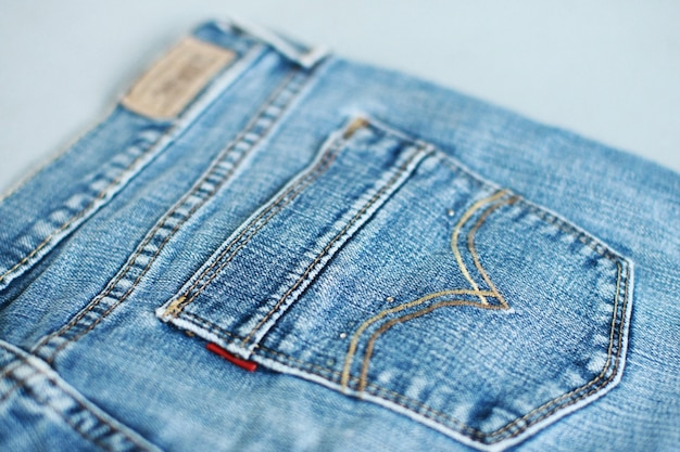 Jeans denim texture closeup