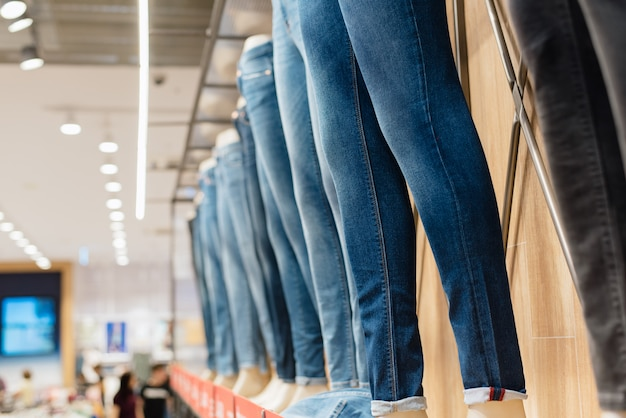 Jeans on a mannequin in the store