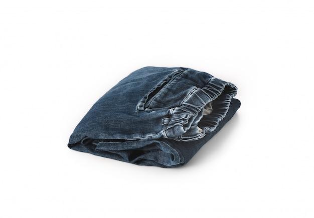 Джинсовые брюки на белом фоне