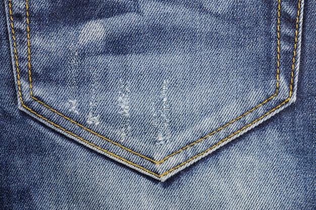 ジーンズのポケットの背景。