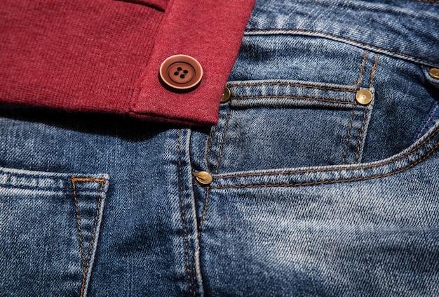 Jeans pocket for background