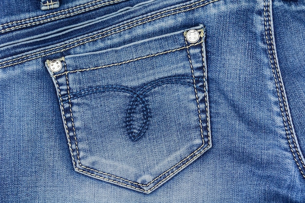 Jeans pocket close-up denim texture