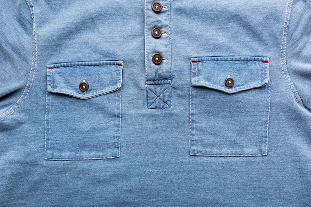 A jeans pockets with plastic button