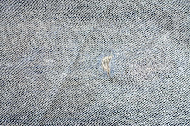 Jeans torn background, denim texture.
