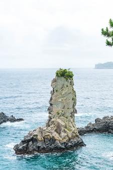 제주도에있는 제주도 오돌가 암 바위 (유명한 자연 명소)