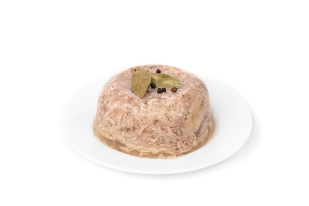 Jellied aspic with chicken meat