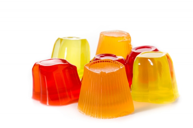 Jellies of different flavors and colorful