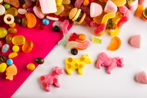 Jelly cows near sweets